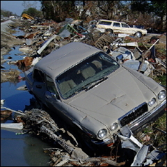 car in hurricane
